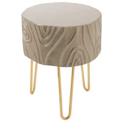 Stray Dog Designs Stumpy Table - Kingsport Gray - Candelabra