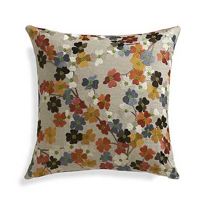 "Tressa 18"" Pillow with Down-Alternative Insert - Crate and Barrel"