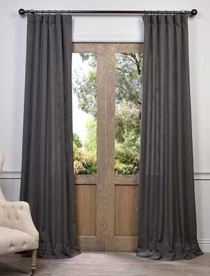 Slate Grey Heavy Faux Linen Curtain - halfpricedrapes.com