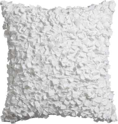"""Rimple white 20"""" pillow with down-alternative insert - CB2"""