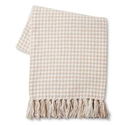 "Thresholdâ""¢ Houndstooth Throw - Beige - Target"
