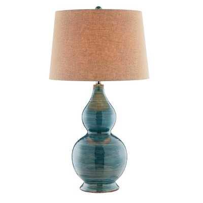 Harriett Turquoise Table Lamp - Overstock