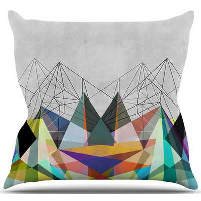 Colorflash 3X Rainbow Outdoor Throw Pillow - 18x18, With Insert - AllModern