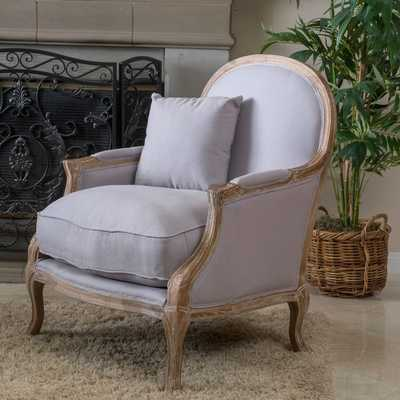 Christopher Knight Home MacArthur Weathered Oak Natural Fabric Arm Chair - Overstock