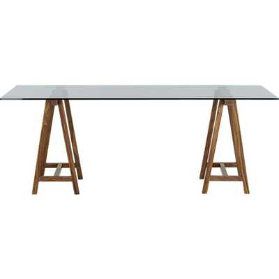 "foundry 80"" trestle table - CB2"