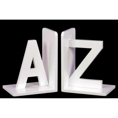 """Wood Alphabet Sculpture """"AZ"""" Bookend - Wayfair"""