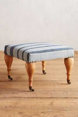 Cotton Dhurrie Trinette Ottoman - Anthropologie