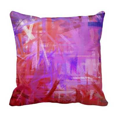 Red Purple Fine Art Painting Style Throw Pillows - zazzle.com