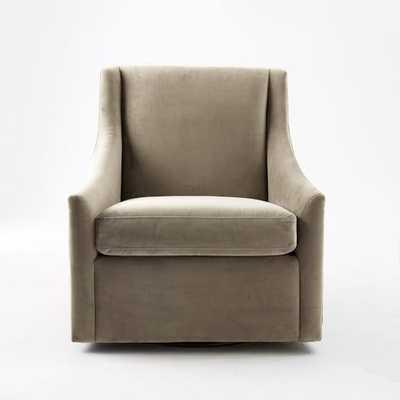 Sweep Arm Swivel Chair - West Elm