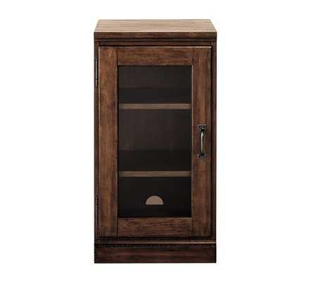 Printer's Single Glass Door Cabinet - Tuscan chestnut stain - Pottery Barn