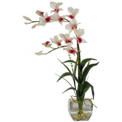 Silk Dendobrium Flowers with Vase - AllModern