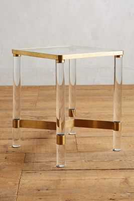 Oscarine Lucite End Table - Anthropologie