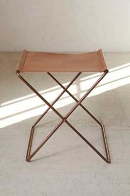 4040 Locust Leather Sling Stool - Urban Outfitters