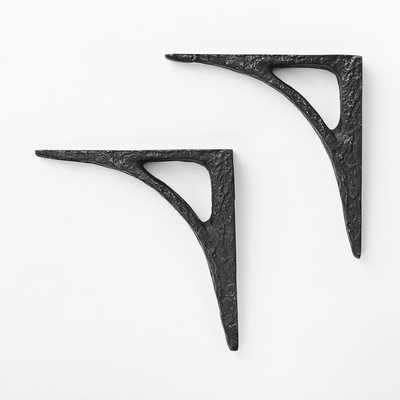 Bracket (Set of 2) - Modern Brackets - Black - West Elm
