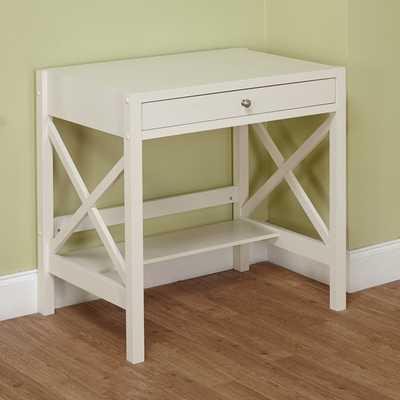 Simple Living Antique White X Desk - Overstock