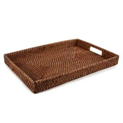 Rattan Classic Rectangle Tray - Bed Bath & Beyond