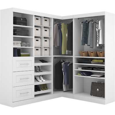 "Pur 18.25"" Deep Corner Multi Storage Cubby Kit - White - Wayfair"