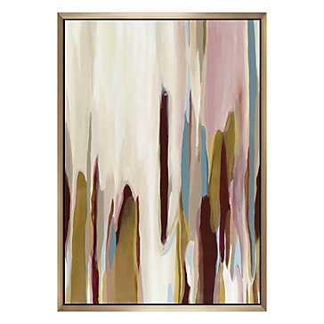 "Dancing In Intensity - Original Art-40""x60""-Framed - Z Gallerie"