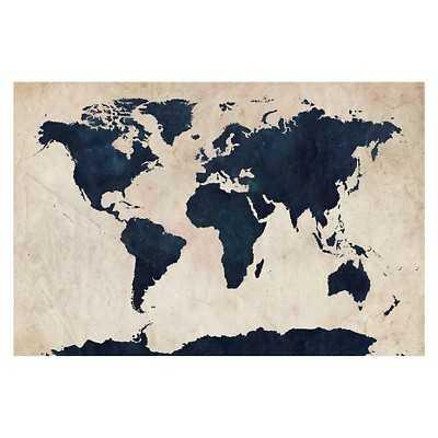 Michael Tompsett 'World Map -Navy' Canvas Art - Target