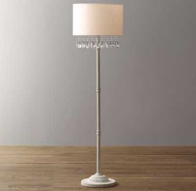 Nathalie crystal floor lamp with shade - RH Baby & Child