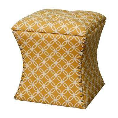 Amelia Upholstered Storage Ottoman - Coins Yellow - Wayfair