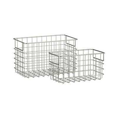Large Wire Basket - Crate and Barrel