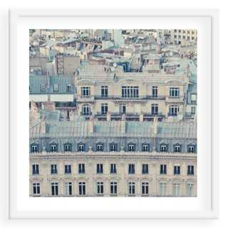"Paris Rooftops - 40"" x 40"" - Framed - One Kings Lane"