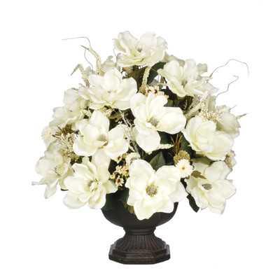 Artificial Magnolia with Mini Mums - Wayfair