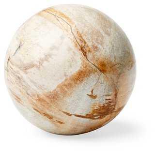 Petrified-Wood Sphere - One Kings Lane