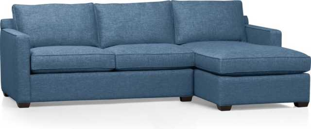 Davis 2-Piece Sectional Sofa - Crate and Barrel