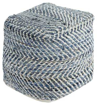 Chevron Pouf - ashleyfurniturehomestore.com