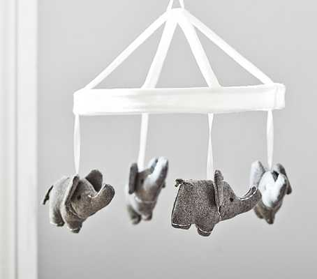 Wool Elephant Crib Mobile - Pottery Barn Kids