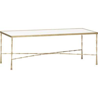 Spike Coffee Table, Brass - High Fashion Home