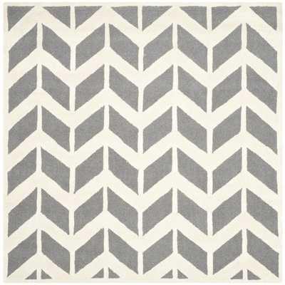 Safavieh Handmade Moroccan Cambridge Dark Grey/ Ivory Wool Rug - Overstock