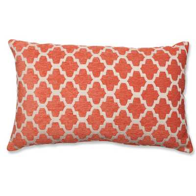 "Lumbar Pillow - 11.5"" H x 18.5"" W x 5"" D - Orange; Off-White - Polyfill insert - AllModern"