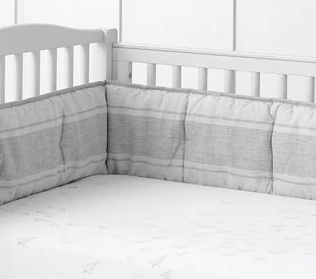 Monique Lhuillier Paper Planes Nursery - Crib Fitted Sheet - Pottery Barn Kids