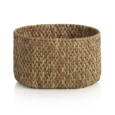 Water Hyacinth Small Oval Basket - Domino