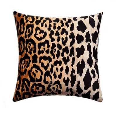 """Velvet Cheetah Zipper Pillow Cover - 18""""sq. - No Insert - Etsy"""