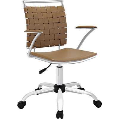 Fuse Mid-Back Adjustable Office Chair - Tan - Wayfair