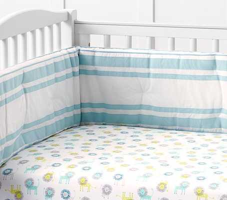 Harper Lion Crib Fitted Sheet - Pottery Barn Kids