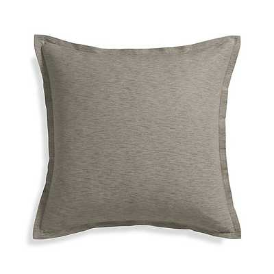 """Linden Mushroom Grey 23"""" Pillow-With Down-Alternative Insert - Crate and Barrel"""