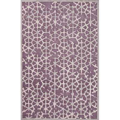 Fables Purple Ash & Light Grey Area Rug - Wayfair