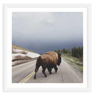 """Kevin Russ, Street Walker-31"""" x 31"""" -Framed - One Kings Lane"""