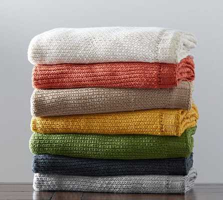 Perry Knit Throw - Pottery Barn