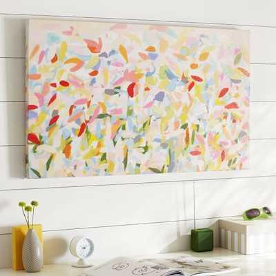"""Petal Canvas Art - 36"""" wide x 22"""" high x 1.5"""" deep- unframed - Pottery Barn Teen"""