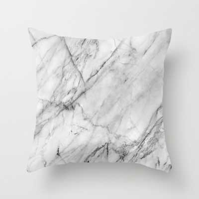 """Marble (18"""" X 18"""") WITH PILLOW INSERT - Society6"""