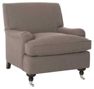 Katerina Club Chair, Gray - One Kings Lane