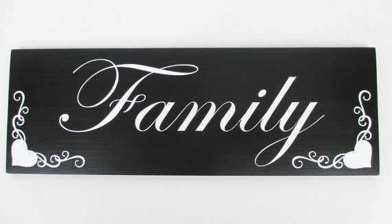 Wood Family Sign, Home Decor - Etsy