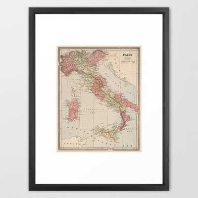 Vintage Map of Italy (1883) - Society6