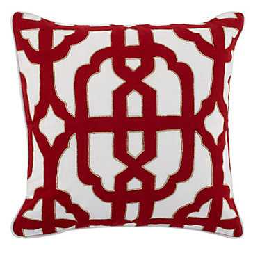"""Modena Pillow 22"""" - Removable Feather/Down insert - Z Gallerie"""
